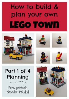 A fun project for parents and kids, or just a fun adult hobby, is to plan a LEGO town. This post is the first in a four part series on building a LEGO town