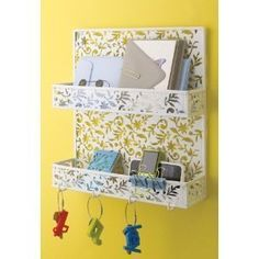 Design Ideas Vinea Mail Sorter and Key Rack Mail Organizer Wall Racks, Wall Storage, Storage Rack, Diy Storage, Storage Ideas, Spice Rack White, Key And Letter Holder, Mail Sorter, Key Rack