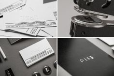 Stamped / de-bossed business cards