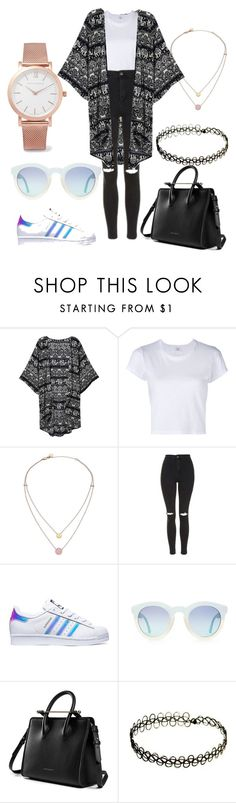 """school"" by theresaweglehner ❤ liked on Polyvore featuring RE/DONE, Michael Kors, Topshop, adidas and Larsson & Jennings"
