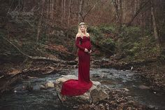 Fitted Maternity Gown / Emerlie Gown / Long sleeve maternity gown / slim fit maternity gown / Maxi Dress