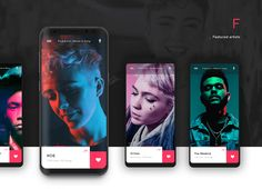 With Musikator, you've got all the music genres right on your favorite device. The best music for every moment, place and mood in your life, curated by music experts from around the world. Desing App, App Ui Design, Mobile App Design, Page Design, Profile App, Mobile App Ui, Music App, Ui Design Inspiration, Interactive Design