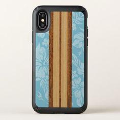 Sunset Beach Faux Wood Surfboard Hawaiian Speck iPhone X Case - personalize cyo diy design unique