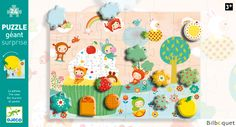 Giant Puzzle surprise 24 pieces - The cake Djeco - Your search: the-cake-puzzle