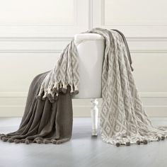 Shop for Amraupur Overseas 100-percent Cotton Diamond Maze Throw With Pom Poms (Set of 2). Free Shipping on orders over $45 at Overstock.com - Your Online Blankets & Throws Outlet Store! Get 5% in rewards with Club O! - 24433451