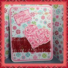 I am in love with the card I made for my CCE ladies this month! It was a 'love' theme - here is what I came up with. Am In Love, January, Recipe, Cards, Rezepte, Maps, Playing Cards, Recipes