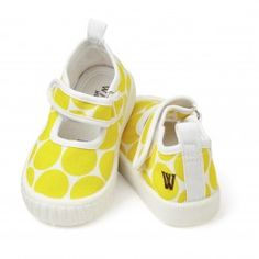 Mary Jane Canvas Yellow Big Spot