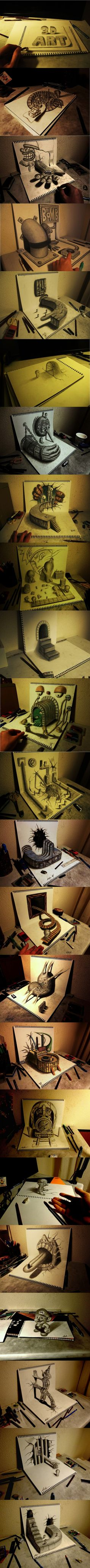 Incredible 3D Art By Japanese Artist Nagai Hideyuki
