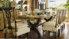 Quadrille, China Seas, Alan Campbell, Home Couture.  want to do chairs in kitchen with this style of slipcover
