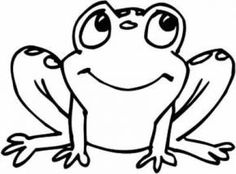 Frog with rolled Eyes