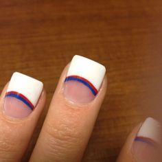Texas rangers acrylic nails!
