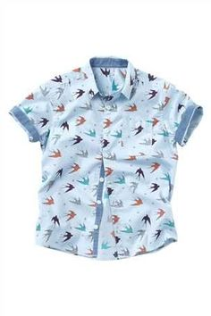 Buy Printed Short Sleeve Shirt (3-16yrs) from the Next UK online shop