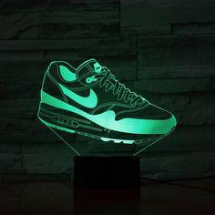 Acrylic lamp Sports shoe All The Colors, Kids Room, Sneakers Nike, Shoe, Led, Yellow, Purple, Sports, Nike Tennis