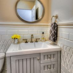 Traditional Bathroom by Kate Marker Interiors