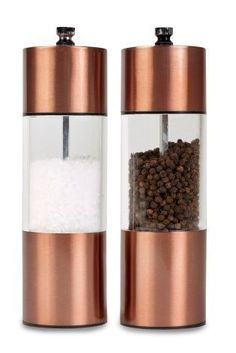Essentials don't have to be boring! Up your salt & pepper game with these gorgeous copper grinders.