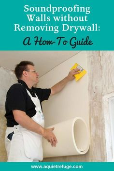 Soundproofing Walls without Removing Drywall. Are you sick of that outdoor noise and loud traffic on a Sunday morning? Or your unpleasant neighbors' loud talking and fighting? Or those students above…More Home Renovation, Home Remodeling, Soundproofing Walls, Do It Yourself Furniture, Home Fix, Diy Home Repair, Home Repairs, Sound Proofing, Drywall