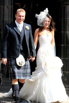 Chris Hoy in a kilt at his wedding