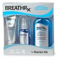 BreathRx Starter Kit by BreathRx. $15.69. BreathRx Purifying Toothpaste (4-oz tube). BreathRx Gentle Tongue Scraper (2 pak). BreathRx Anti-Bacterial Tongue Spray (2-oz bottle). BreathRx Anti-Bacterial Mouth Rinse (8-fl. Oz). Start today... take control of your breath! The BreathRx Starter Kit gives you a total breath management solution so you can take control of your bad breath. Each kit has the essential products you need to integrate the simple 3-Step, Brush-Scrape-Rinse rou...