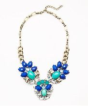 Gemstone Peacock Necklace in Blue (FINAL SALE)