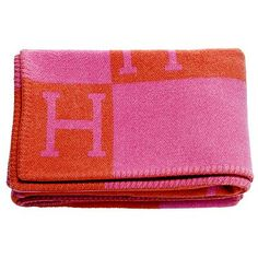 The Millionairess of Pennsylvania: Hermes blanket. pink and orange. We need to keep warm around here! Cute Blankets, Kids Blankets, Hermes Blanket, Red Blanket, Saddle Blanket, Wooly Bully, Textiles, Everything Pink, Keep Warm