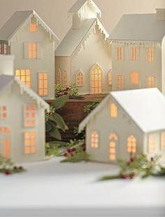 White Christmas village...now we're talking!!!  :)