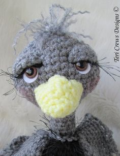 Ostrich Crochet Toy Pattern by Teri Crews PDF by WoolandWhims, $4.95
