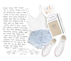 """""""maybe things don't happen for a reason"""" by fiona137 ❤ liked on Polyvore featuring Levi's, Hollister Co., Converse, Paperself and PINTRILL"""