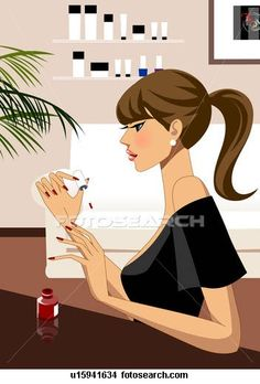 Woman applying nail polish Illustrations and Stock Art. 41 woman applying nail polish illustration and vector EPS clipart graphics available to search from over 15 royalty free stock clip art publishers.