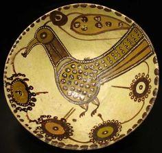 "Slip Painted 'Sari' Bowl - AMD.51 Origin: Central Asia Circa: 1000 AD to 1200 AD Dimensions: 3"" (7.6cm) high x 7.6"" (19.3cm) wide Collec..."