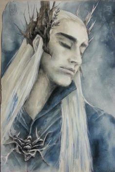 The hobbits - Thranduil :)  스란두일 짱짱맨 이그림 짱많이우려먹는다 http://yunhyej.deviantart.com/art/The-hobbits-Thranduil-425559611