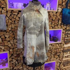 giacca infeltrita e colorata in ecoprint
