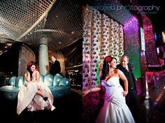 dress, themed, Vegas wedding, Las Vegas strip, exceed, bride and groom, creative photos, Cosmopolitan Hotal, big Chandelier