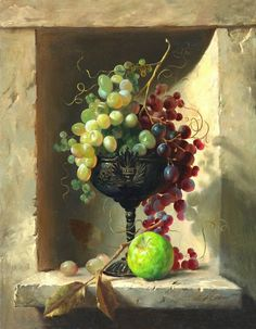 Raindrops and Roses: Photo Painting Still Life, Still Life Art, Raindrops And Roses, Classical Realism, Foto Transfer, Fruit Painting, Still Life Photos, Fruit Art, Pictures To Paint