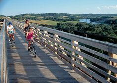 Long distance bike trails across the USA...without cars!