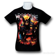 Images of Wolverine Angry Mutation on Black T-Shirt
