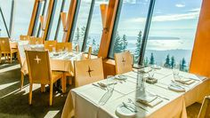 The Observatory restaurant - at 3,700' on the peak of Grouse Mountain ... Vancouver, BC, Canada