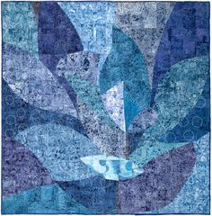 Brassica Blues by Janet Twinn. Guild Challenge - Contemporary Quilt.  Quilters' Guild of the British Isles, 2014 Festival of Quilts