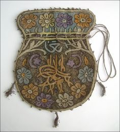 Antique Ottoman purse embroidered with gold and silver threads pinned from pinned from http://urun.gittigidiyor.com/antika-sanat/tamami-altin-amp-ipek-islemeli-essiz-osmanli-kese-33600813