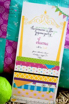 Princess and the Pea - Invitation - Printable