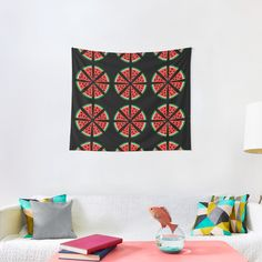"""""""Watermelon Slices"""" Tapestry by Pultzar   Redbubble"""