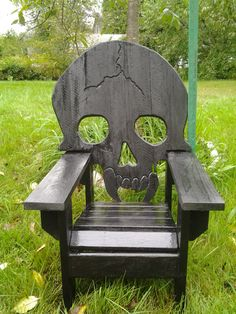 Child Sized Skull Chair, Skeleton Themed , Adirondack Chair,spooky,cool