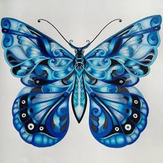 """Gefällt 192 Mal, 14 Kommentare - @juggalettina auf Instagram: """"Finished """"Royal Blue Butterfly"""". I'm glad it's not totally disfigured. I've colored some white dots…"""""""