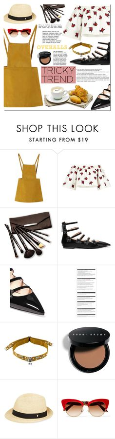 """Overalls"" by bibibaubau on Polyvore featuring Chicnova Fashion, House of Holland, Borghese, Fendi, Arche, Etro, Bobbi Brown Cosmetics, Helen Kaminski, Dolce&Gabbana and TrickyTrend"