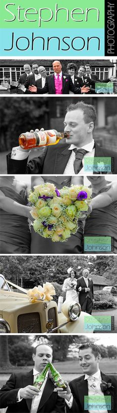 Wedding photography - Some beautiful examples of the use of colour splash in post edit. www.stephenjohnsonphotography.com