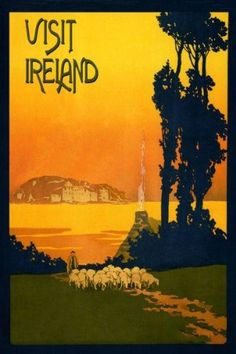 "Visit Ireland Irish Farm Sheep Landscape Dublin Sea Ocean Travel Tourism 12"" X 16"" Image Size Vintage Poster Reproduction Heritage Posters,http://www.amazon.com/dp/B008DKSXF8/ref=cm_sw_r_pi_dp_wa8Dtb17KRK6DJFC"