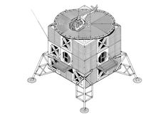 Jan Kaplicky: Clear Lunar Excursion Module influence in what is close to a technical drawing.