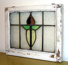 vintage stained glass-- fortunately I  saved some of these old English Windows for myself.