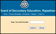 Check RBSE/BSER Result Rajasthan Board Secondary Class Exam Results to be Declared Today @ www.in, rajeduboard. 10th Exam Result, Biodata Format Download, Senior Secondary School, Result Date, Examination Results, Types Of Stress, Board Result, Railway Jobs, Bank Jobs