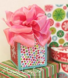 Easy to make package Bowdabra bow that is a just the right touch for any gift - DIY Tutorial