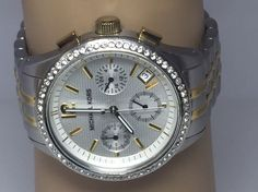 Michael Kors Ladies MK5098 Two Tone Watch Stainless Steel Crystal Bezel (D365) #MichaelKors